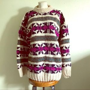 Other - VINTAGE Cozy Handmade in Ecuador 100% Wool Sweater